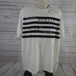 Five Four Mark McNairy Bars NY LA White T-Shirt